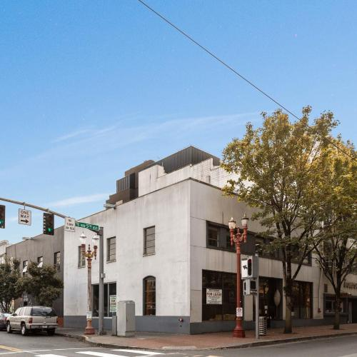 Exterior building in downtown Portland with available space for lease.