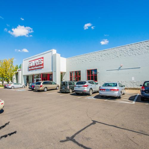 Anchor space in Corvallis, Oregon with ample parking opportunities